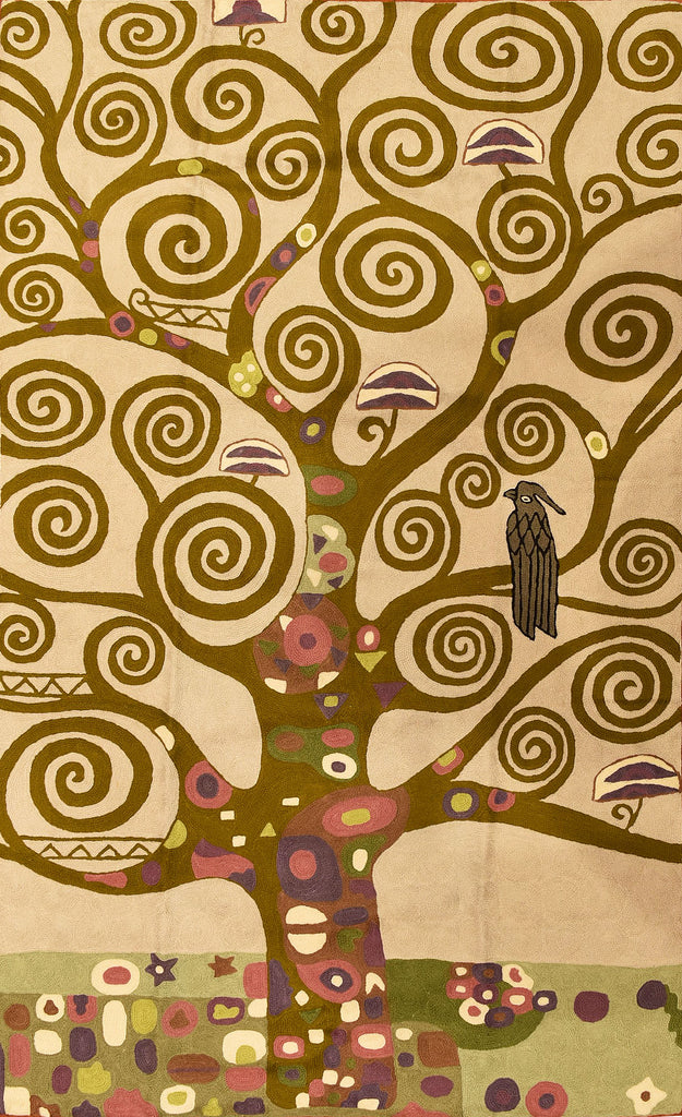 Klimt Tapestry 3ftx5ft Tree of Life Art Nouveau Wall Hanging Rug Carpet Wool - KashmirDesigns