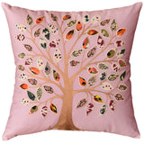 Lavender Tree of Life Decorative Pillow Cover Cotton Applique Work 18