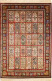 6'x4' Red Tabriz Pure Silk Area Rug Carpet Tree of Life Oriental Hand Knotted