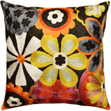 Suzani Daisy Bloom Decorative Pillow Cover Handembroidered Art Silk 18x18