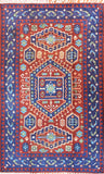 Tribal 3ftx5ft Aztec Blue Red Southwestern Wall Hanging Tapestry Rug Art Silk