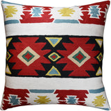 Tribal Butterfly Aztec Southwestern Throw Pillow Cover Handmade Wool 18x18