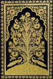 Jewel 2ftx3ft  Tree of Life Tapestry Wall Hanging Two Peacocks Zardozi Handmade