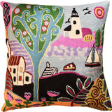 Summer Day  Karla Gerard Decorative Pillow Cover Handembroidered Wool 18