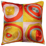 Kandinsky Pillow Cover Quadrate Colors II Hand Embroidered 18