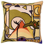 Fun in the Sun III by Alfred Gockel Accent Pillow Cover Handmade Wool 18
