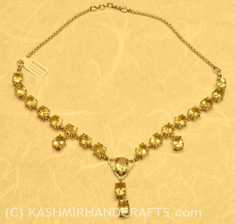 """Intuition and Spirit"" Citrine & Sterling Silver Necklace"