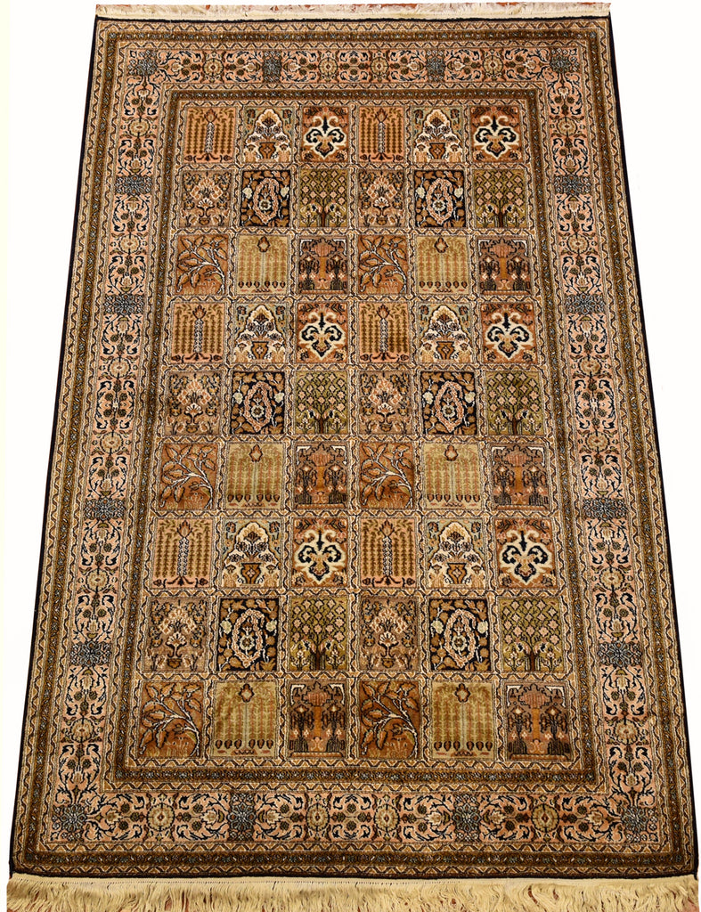 6'X4' Qum Tree Of Life Rug Pure Silk Pile Oriental Area Rugs Carpet Hand Knotted