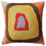 Kandinsky Colorful Soul Decorative Pillow Cover Wool Hand Embroidered 18