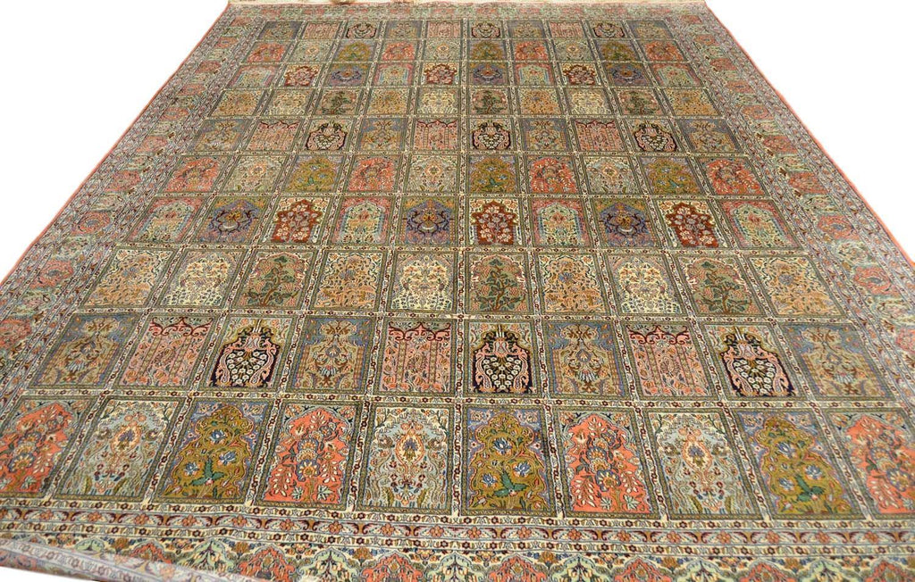 10'X14' Tree of Life Hamdan Rug Pure Silk Pile Oriental Area Rugs Carpet Hand Knotted