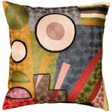 Kandinsky Soul Flood III Decorative Pillow Cover Silk Hand Embroidered 18