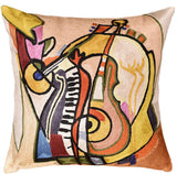 Music is my Life by Alfred Gockel Accent Pillow Cover Handmade Art Silk 18