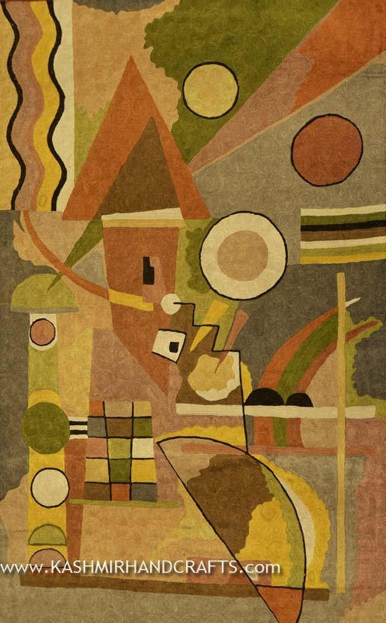KANDINSKY composition II Abstract Rug / Tapestry 3ft x 5ft