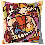 Stroking the Keys by Alfred Gockel Accent Pillow Cover Handmade Wool 18