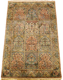 6'X4' Hamdan Tree Of Life Rug Four Seasons Pure Silk Pile Oriental Area Rugs Carpet Hand Knotted