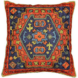 dragon II tribal cushion cover silk hand embroidered 16 x 16