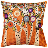 Spring Blooms Karla Gerard Accent Pillow Cover Handembroidered Art Silk 18