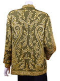 Olive Green Jacket Dinner Cashmere Evening Dress Coat Paisley Hand Embroidered Kashmir