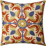Medallion Floral  Elements Decorative Pillow Cover Handembroidered Wool 20