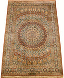 6'X4' Arabesque Rug Pure Silk Pile Oriental Area Rugs Carpet Hand Knotted