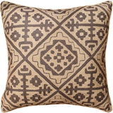 Tribal Kilim Southwestern Beige Accent Pillow Cover Handembroidered Wool 20x20