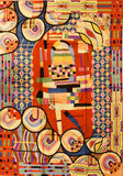 Hundertwasser Tapestry 5ftx7ft Abstract Modern Wall Hanging Rug Carpet Art Silk
