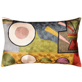 Lumbar Kandinsky Soul Flood Decorative Pillow Cover Silk Hand Embroidered 13