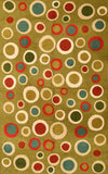 Polka Dots 3ftx5ft Green Contemporary Wall Hanging Tapestry Rug Carpet Wool