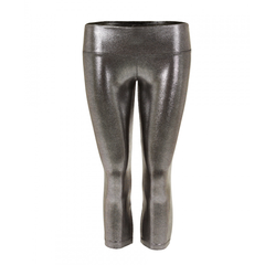 Suki Leatherback 3/4 Leggings in Chrome