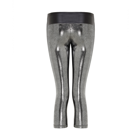 Suki Leatherback 7/8 Leggings in Silver