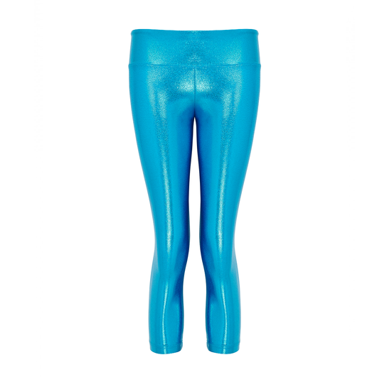 Suki Leatherback 3/4 Leggings in Turquoise Blue