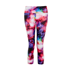Suki Leatherback 3/4 Leggings in Universe Pink