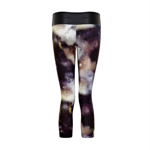 Suki Leatherback 3/4 Leggings in Universe Taupe