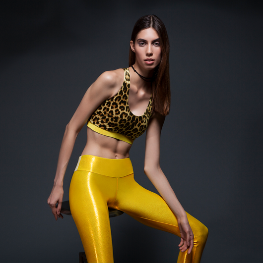 Athluxury by Sukishufu Suki Leatherback Long Leggings in Rio Gold