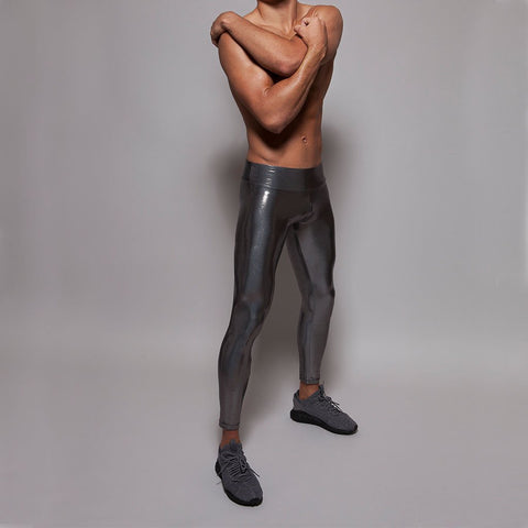 Suki Boy Leatherback Leggings in Chrome by Sukishufu