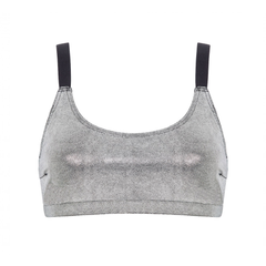 Suki Tempura Crop Top in Silver