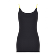 SukiShufu Athleisure | Electric Slide Velvet Vest Top in Black