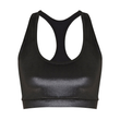 Dutty Wine Velvet Racerback Crop Top in Black