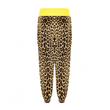 Prince Velvet Lounge Pants in Leopard + Yellow