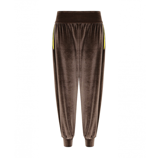 B-Boy Velvet Lounge Pants in Otter + Yellow