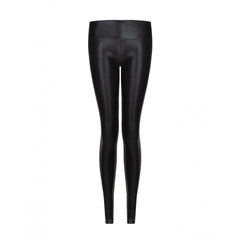 Suki Leatherback Long Leggings In Black + White