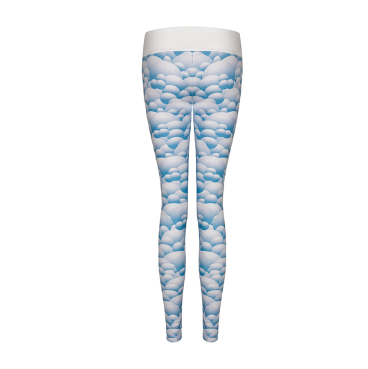 Suki Leatherback Long Leggings in Blue Mountain
