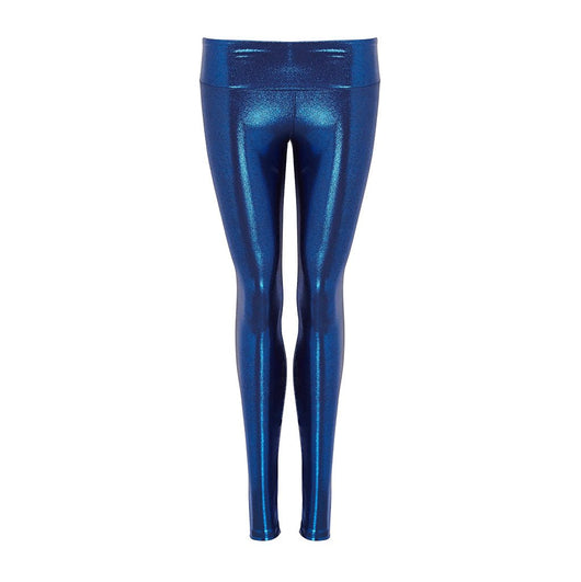 Suki Leatherback Leggings in Blue Gloss