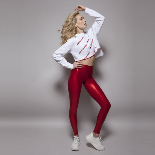 High Waisted Leggings in Cherry Gloss by SukiShufu