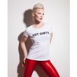 Eat Dirty Tee by SukiShufu, with red gloss leggings
