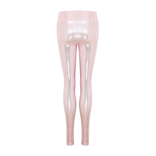 High Waisted Leggings in Rosé Gloss