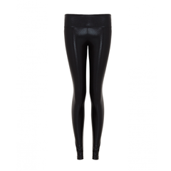 Suki Leatherback Long Leggings in Black