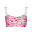 Suki Leatherback Miso Crop Top in Pink Bubble
