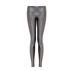 Suki Leatherback Long Leggings in Chrome