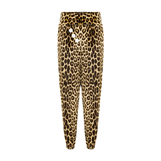 Prince Velvet Lounge Pants in Leopard + Yellow by SukiShufu